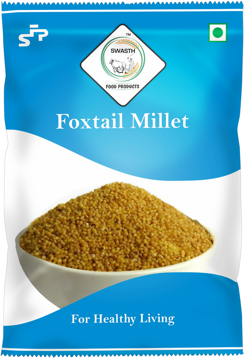 SWASTH Unpolished and Natural Millet Combo Pack of 5 - 1Kg Each (Foxtail, Kodo, Browntop, Little, Barnyard Millets)