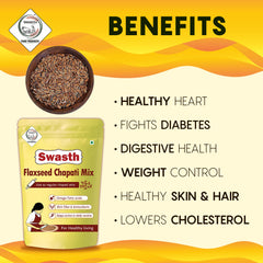 Swasth Flaxseed Chapati Mix-5Kg (Other Names of Flaxseed - Agase, Jawas or Alashi, Ali Vidai, Tishi or Pesi, Avise Ginzalu)