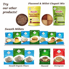 SWASTH Unpolished and Natural Millet Combo Pack of 5 - 1Kg Each (Kodo, Little, Browntop, Foxtail, Proso Millets)