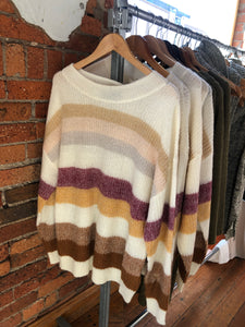 DAWNING STRIPE MOHAIR JUMPER KNIT