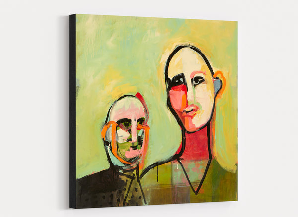 canvas wall art of abstract people