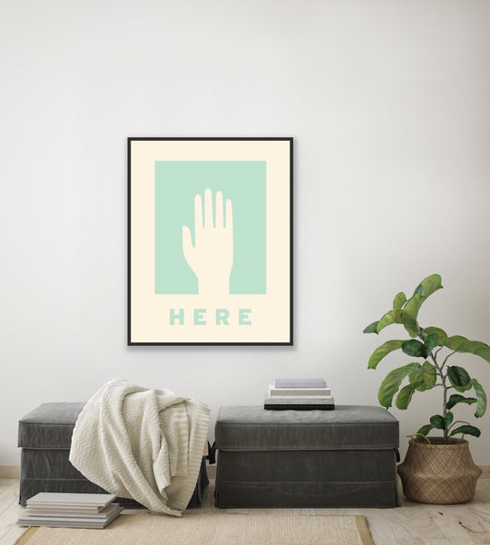 "Mid Century Poster ""Here"""