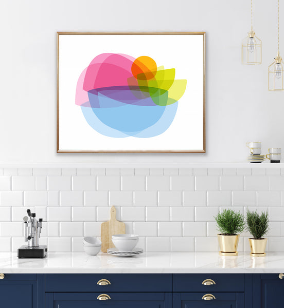 "Colorful Modern Art Print ""Translucence"""
