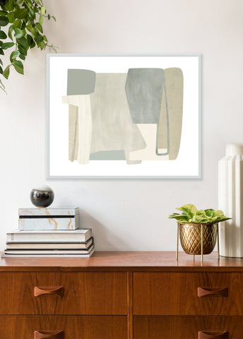 neutral mid century art