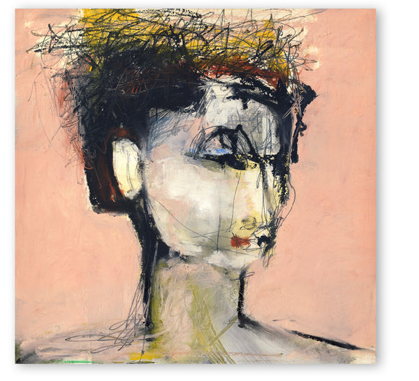 abstract woman portrait on canvas print