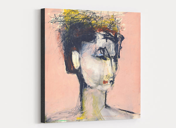 large canvas print of woman