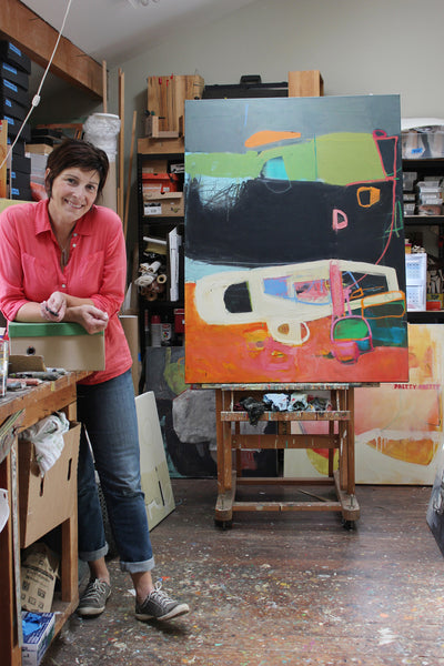 jenny gray with Strata painting