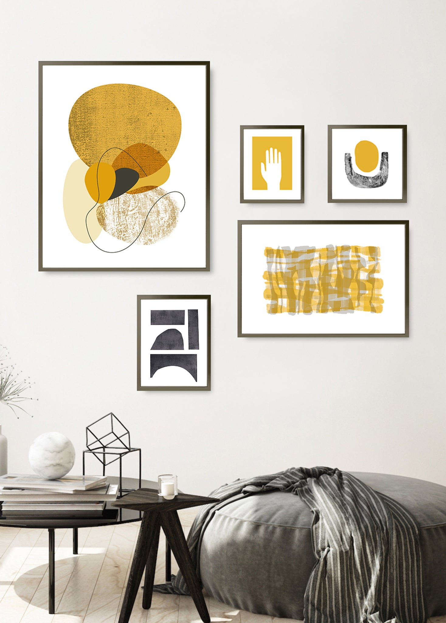 mid century modern gallery wall art prints