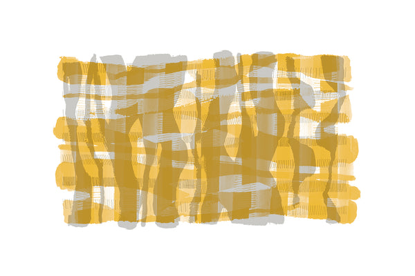 ochre abstract art print