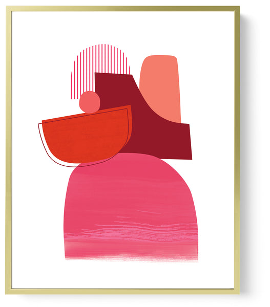 contemporary art print red