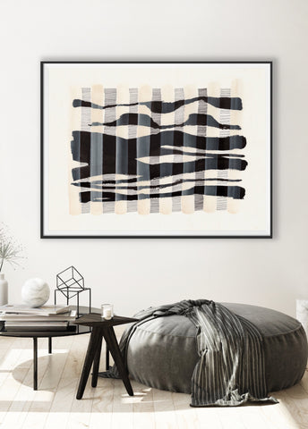 modern art print black and white