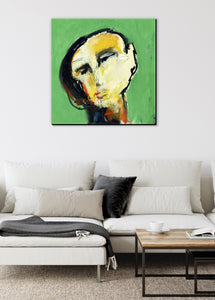 abstract man canvas wall art