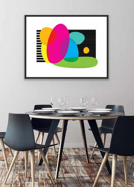 colorful wall art print