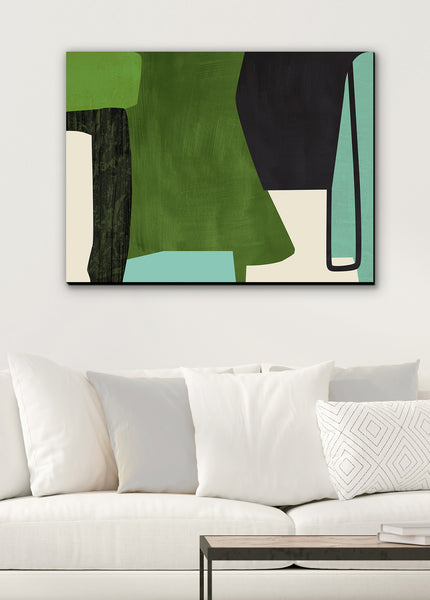 green canvas wall art living room wall decor