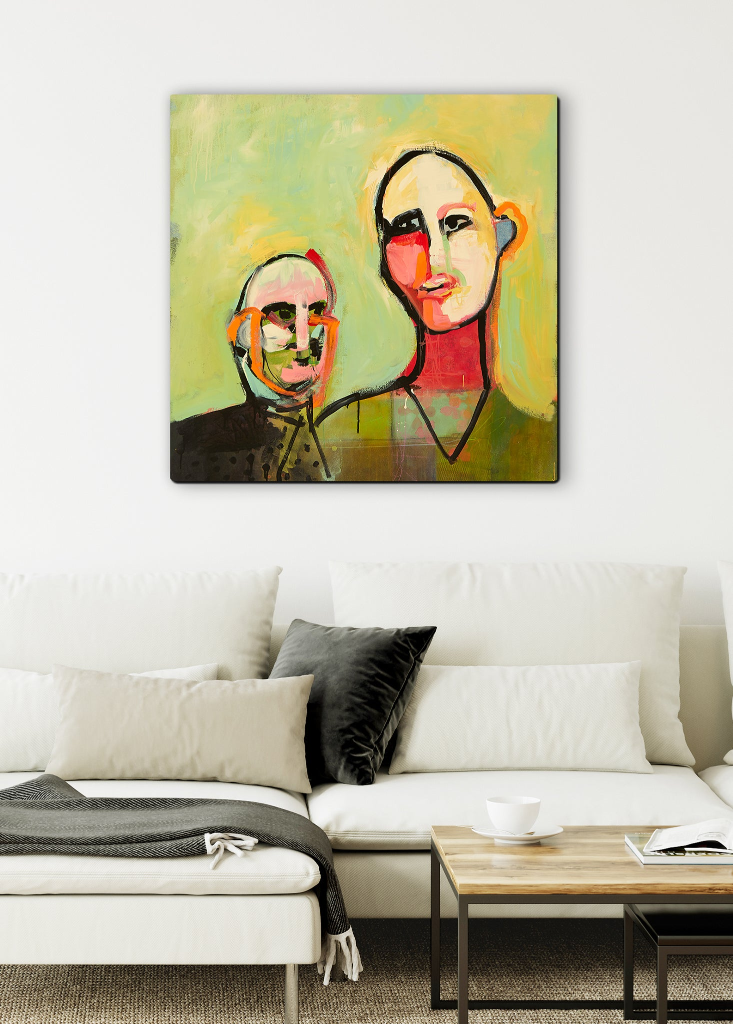 abstract people canvas wall art