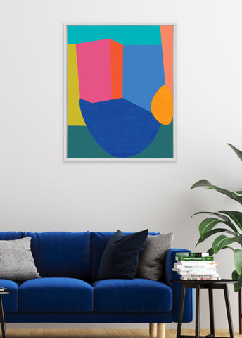 colorful modern abstract print