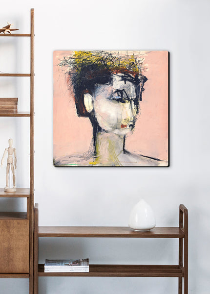 abstract woman portrait canvas wall art