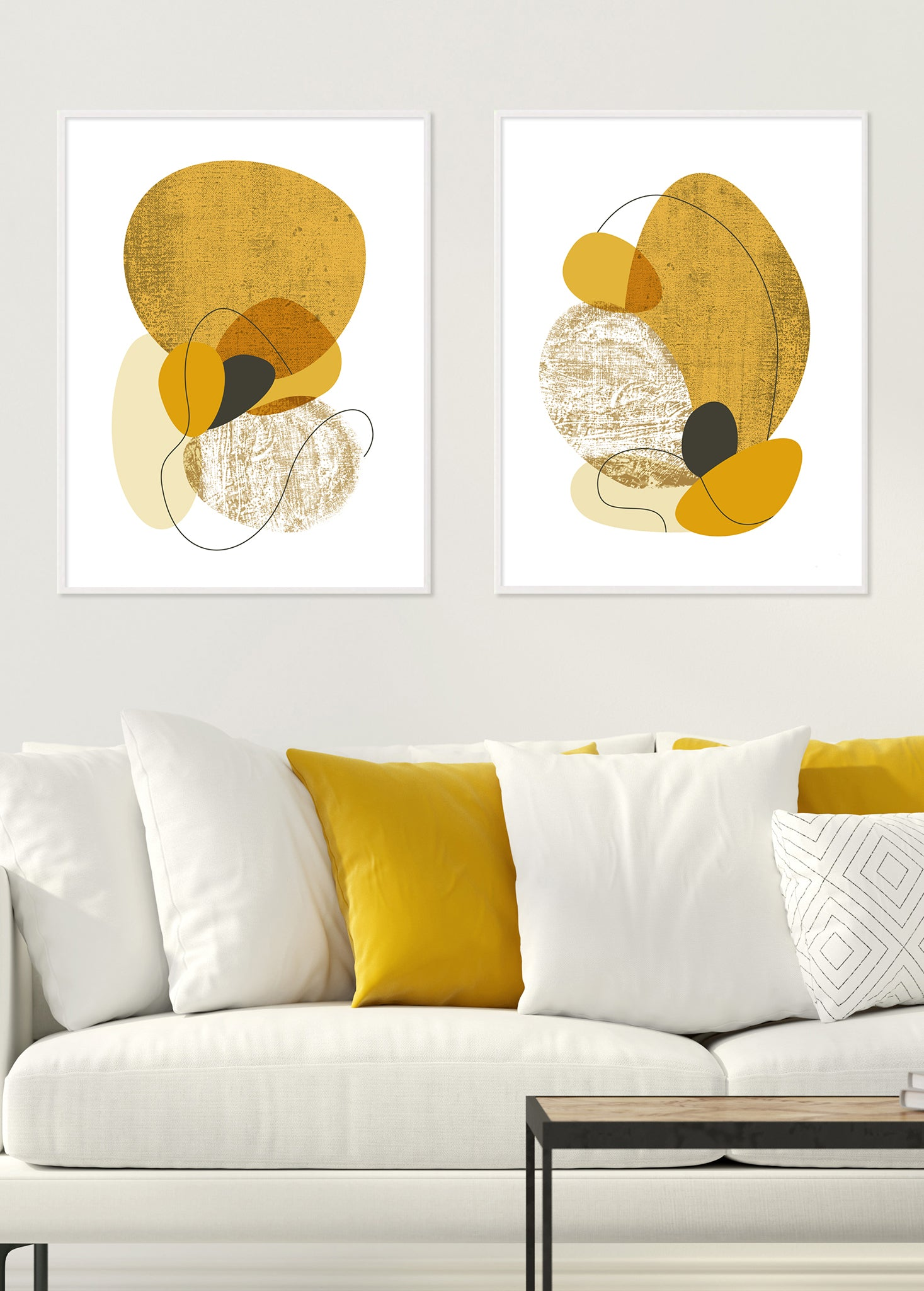 print set for living room wall decor