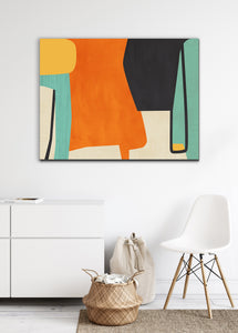 colorful mid century canvas wall art