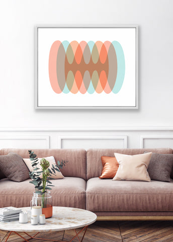 retro sound wave mid century modern