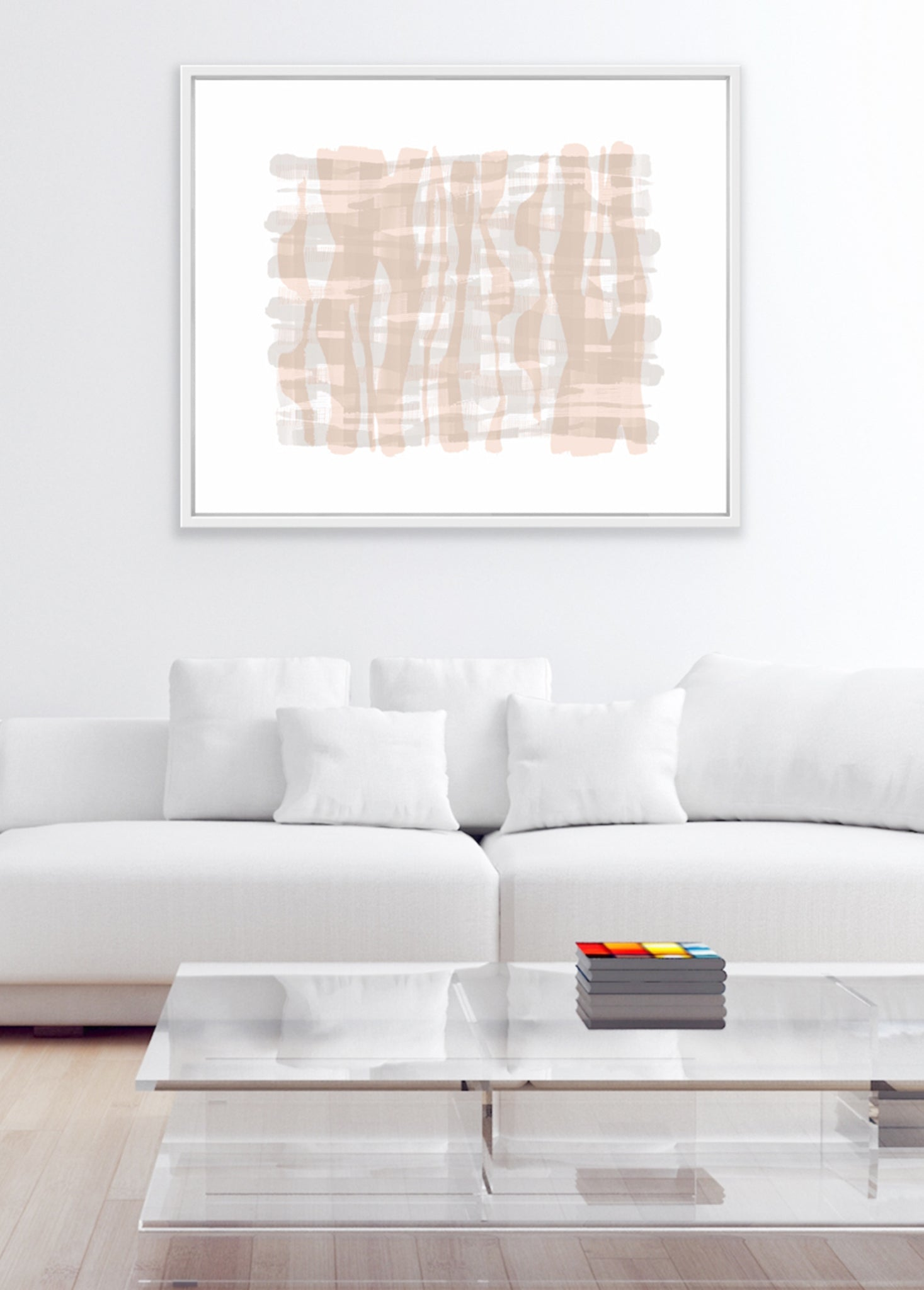 minimalist abstract framed art