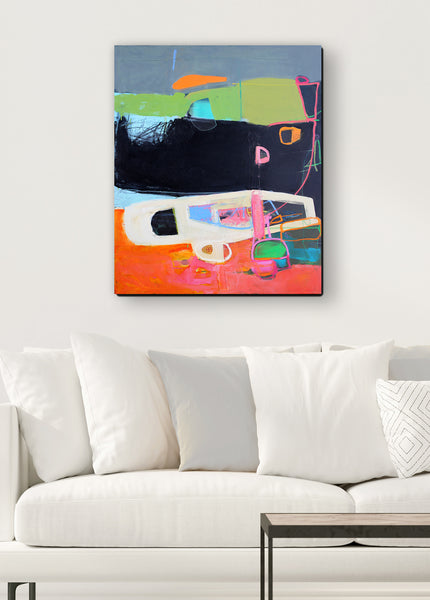 colorful abstract canvas wall art