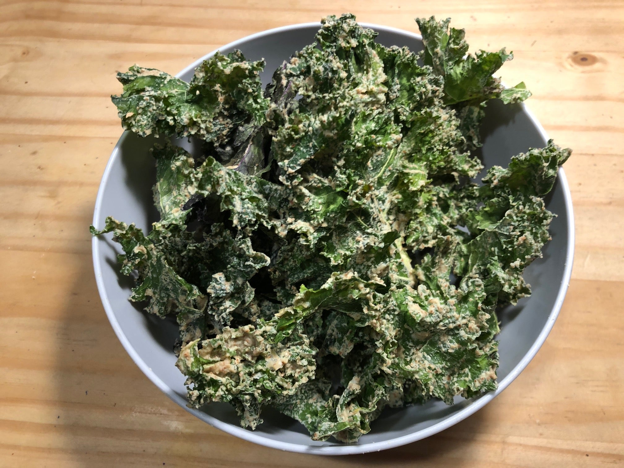 Curly Kale Chips.  The perfect snack to share or to keep to yourself.