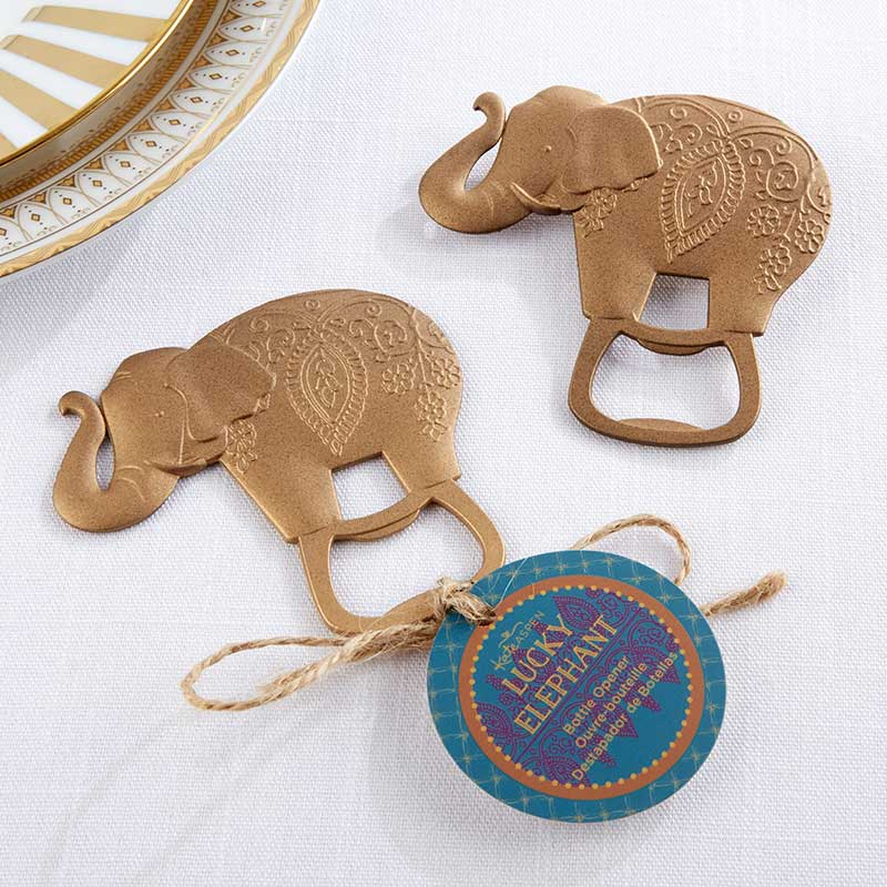 Lucky Golden Elephant Bottle Opener