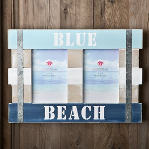 Double Blue Beach Picture Frame