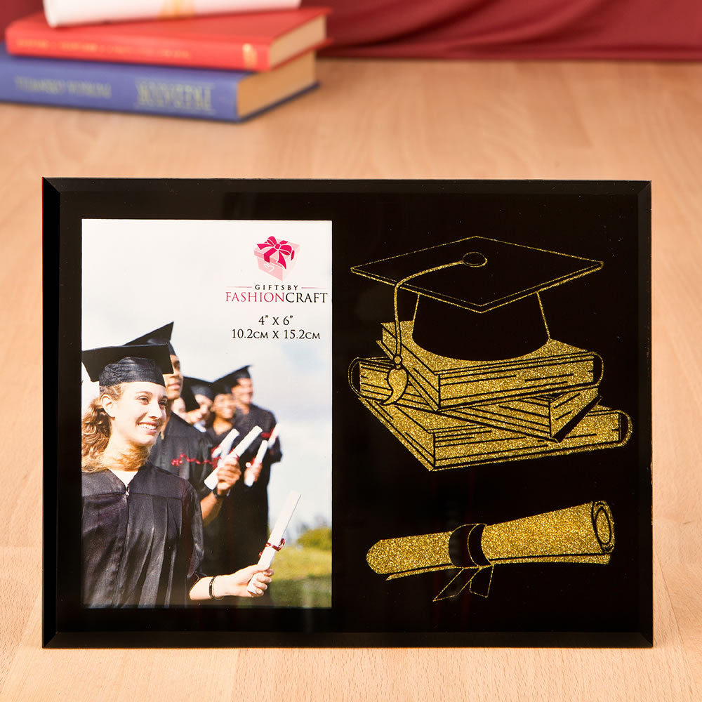Graduation Themed Glass Frame From Gifts By Favorrific