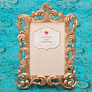 Magnificent Rose Gold Baroque 4 x 6 Picture Frame