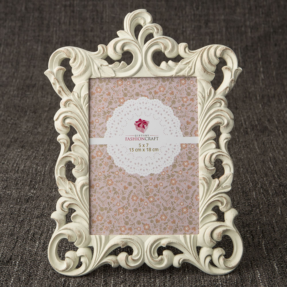 Opulent Brushed Gold Baroque 5 x 7 Picture Frame