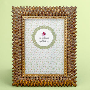 Brushed Gold Leaf Design Picture Frame