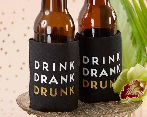 Drink Drank Drunk Insulated Drink Sleeve Set (Set of 4)
