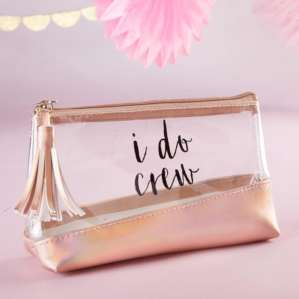 I Do Crew Clear & Rose Gold Bag Survival Kit