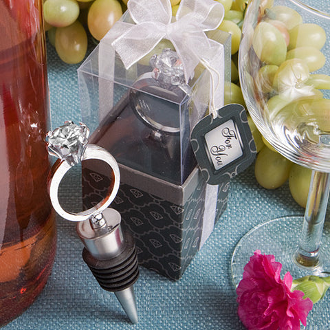Diamond Ring Wine Bottle Stoppers