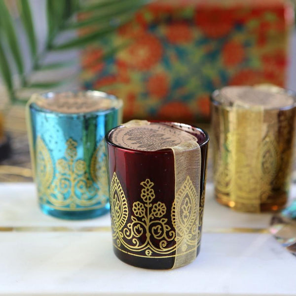 Indian Jewel Henna Votives - Assorted (Set of 4)