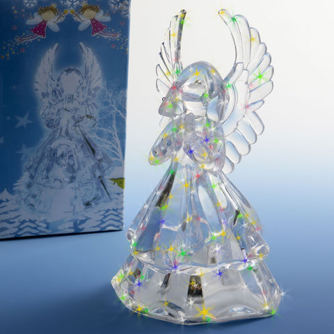 Light Up Clear Acrylic Angel Centerpiece / Cake Topper