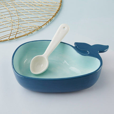 Whale Shaped Dip Bowl & Spoon