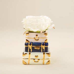 Suitcase Ceramic Bud Vase