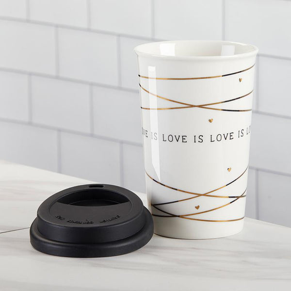 Love is Love 15 oz. Ceramic Travel Mug