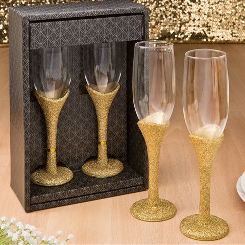 Golden Elegance Collection Set Of Two Toasting Glasses