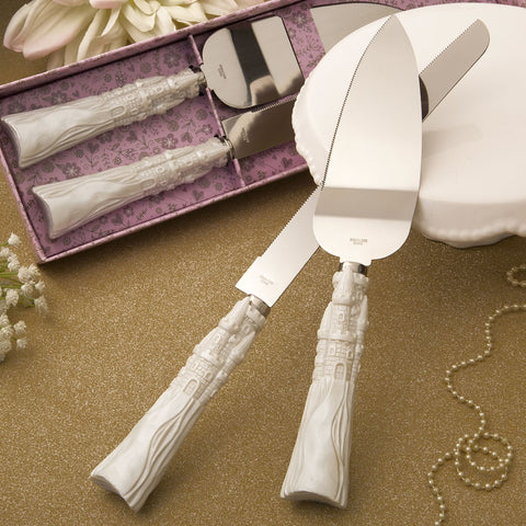 Fairytale Design / Cinderella Themed Stainless Steel Cake Cutter And Knife Set