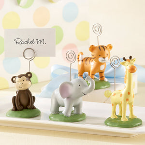 """Born To Be Wild"" Animal Place Card/Photo Holder - Assorted (Set of 4)"