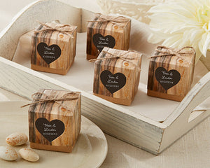 """Hearts in Love"" Rustic Favor Box (Set of 24)"
