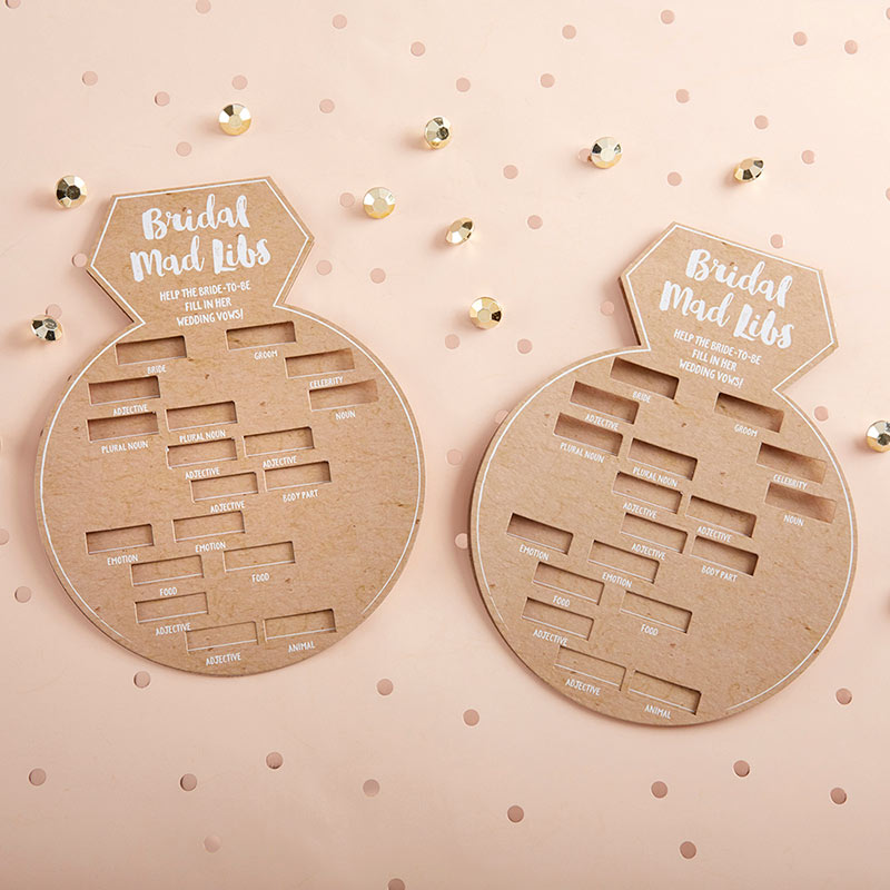 Kraft Bridal Shower Game Card - Ring Shape (Set of 50)
