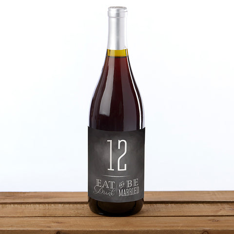 Eat Drink be Married Wine Label Table Numbers (1-20)