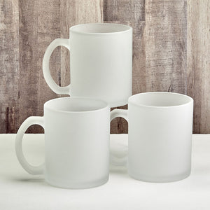 Perfectly Plain Collection Frosted Glass Coffee Mug