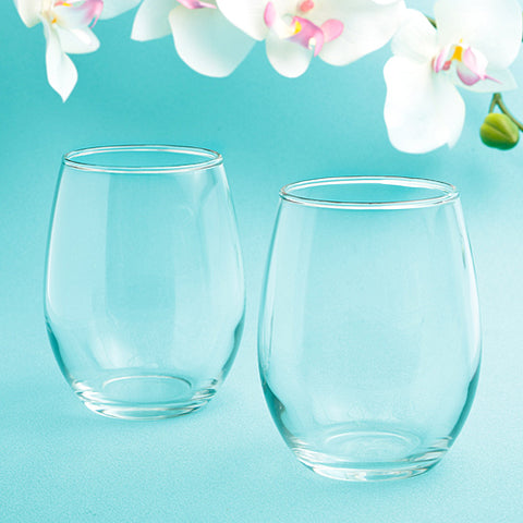 Perfectly Plain Collection Stemless Wine Glasses