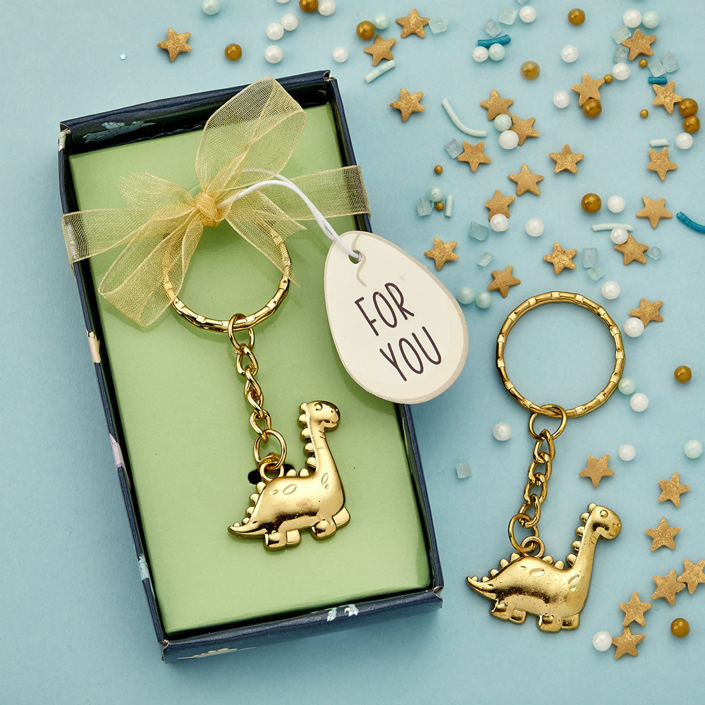 Adorable Gold Dinosaur Key Chain From Favorrific